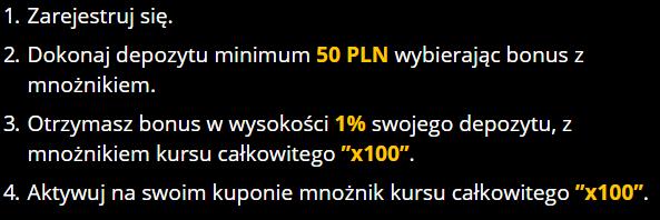 Regulamin bonus na start w LvBet