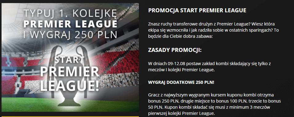 LVBet zakłady bukmacherskie - promocja na Premier League