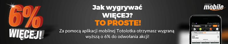 Bukmacher Totolotek - promocja na mobile