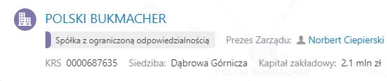 Informacje o Polskim Bukmacherze